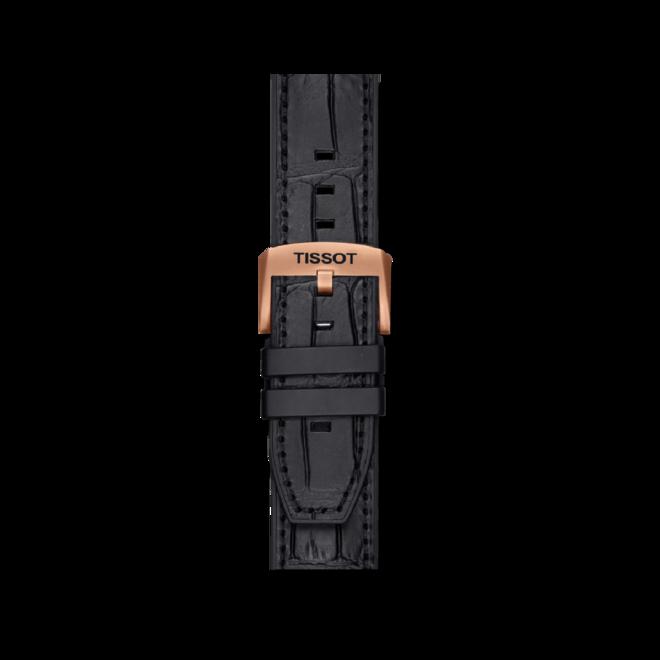 Herrenuhr Tissot T-Sport Automatik Chronograph 45mm mit zweifarbigem Zifferblatt und Rindsleder-Armband bei Brogle