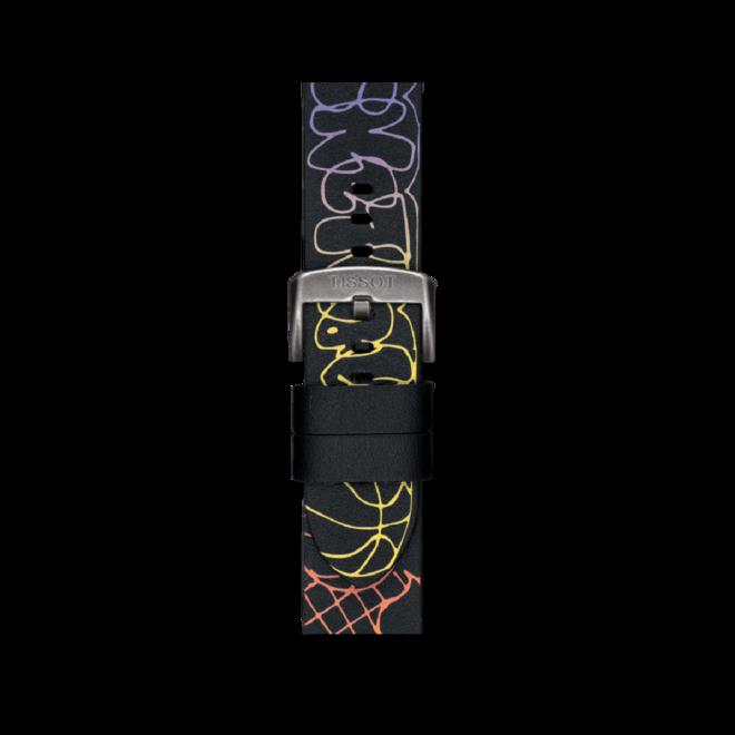 Herrenuhr Tissot Chrono XL 3X3 Street Basketball mit schwarzem Zifferblatt und Rindsleder-Armband bei Brogle