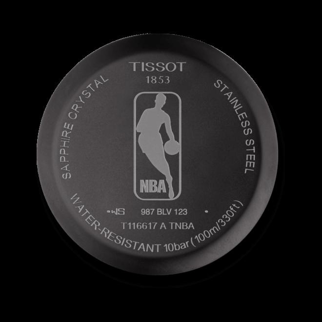 Herrenuhr Tissot Chrono XL NBA Los Angeles Lakers mit schwarzem Zifferblatt und Kalbsleder-Armband bei Brogle