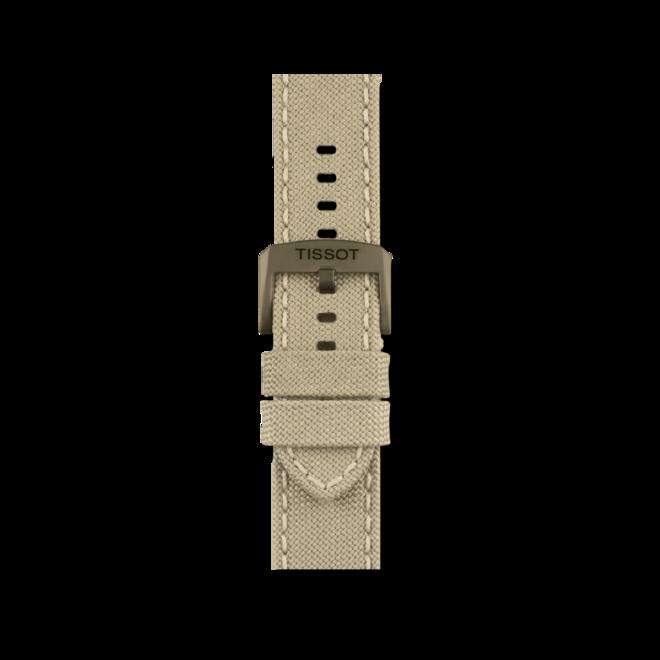 Herrenuhr Tissot Chrono XL Quartz mit beigefarbenem Zifferblatt und Textilarmband bei Brogle