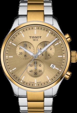 Herrenuhr Tissot Chrono XL mit gelbgoldfarbenem Zifferblatt und Edelstahlarmband