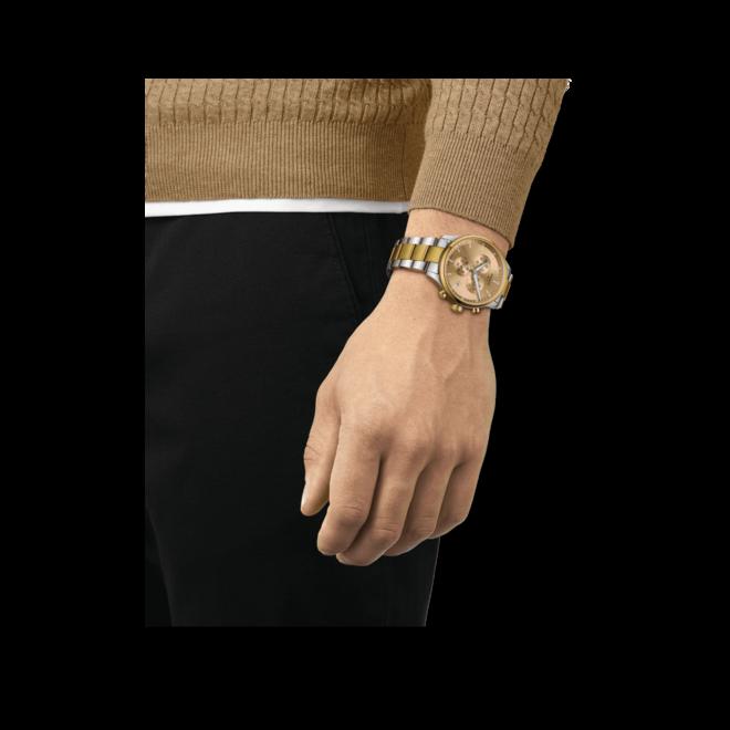 Herrenuhr Tissot Chrono XL mit gelbgoldfarbenem Zifferblatt und Edelstahlarmband bei Brogle