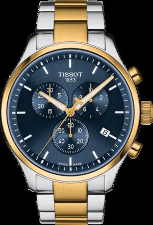 Herrenuhr Tissot Chrono XL mit blauem Zifferblatt und Edelstahlarmband