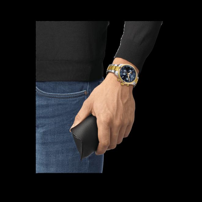 Herrenuhr Tissot Chrono XL mit blauem Zifferblatt und Edelstahlarmband bei Brogle