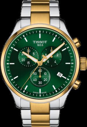 Herrenuhr Tissot Chrono XL mit grünem Zifferblatt und Edelstahlarmband