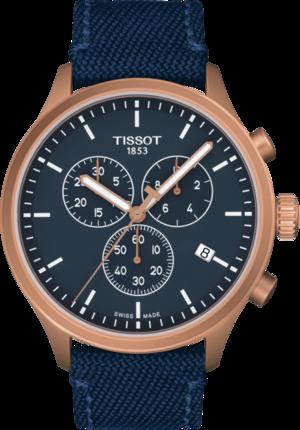 Herrenuhr Tissot Chrono XL mit blauem Zifferblatt und Textilarmband