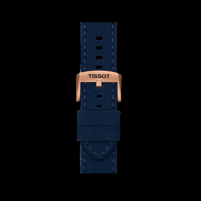 Herrenuhr Tissot Chrono XL mit blauem Zifferblatt und Textilarmband bei Brogle