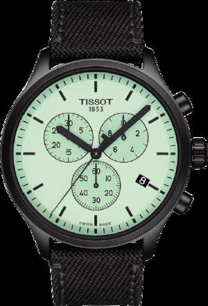 Herrenuhr Tissot Chrono XL mit grünem Zifferblatt und Textilarmband