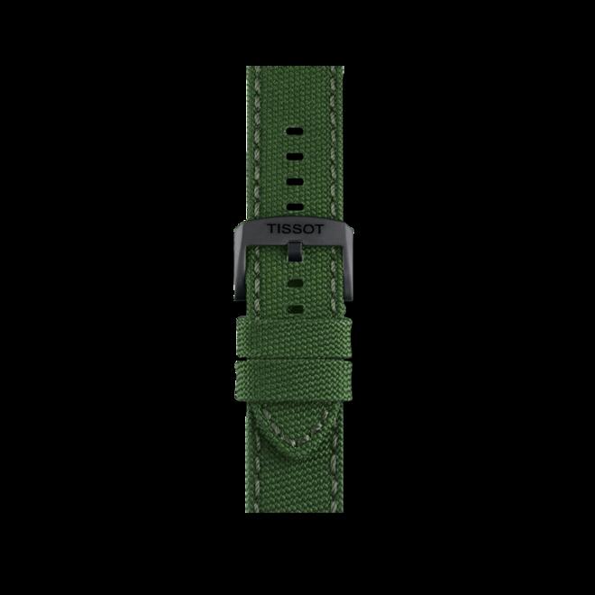 Herrenuhr Tissot Chrono XL mit grünem Zifferblatt und Textilarmband bei Brogle