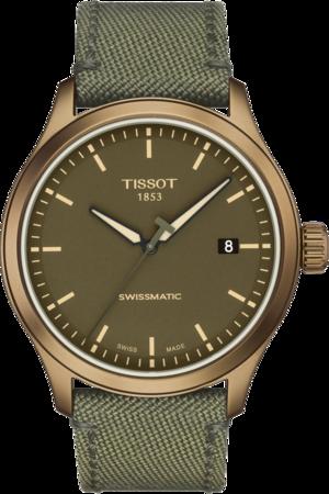 Herrenuhr Tissot Gent XL Khaki mit grünem Zifferblatt und Textilarmband