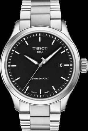 Herrenuhr Tissot Gent XL mit schwarzem Zifferblatt und Edelstahlarmband
