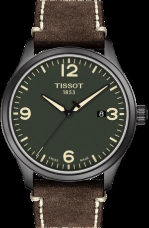 Herrenuhr Tissot Gent XL mit grünem Zifferblatt und Rindsleder-Armband