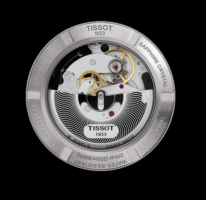 Herrenuhr Tissot PRC 200 Automatic Chronograph Gent mit schwarzem Zifferblatt und Kautschukarmband