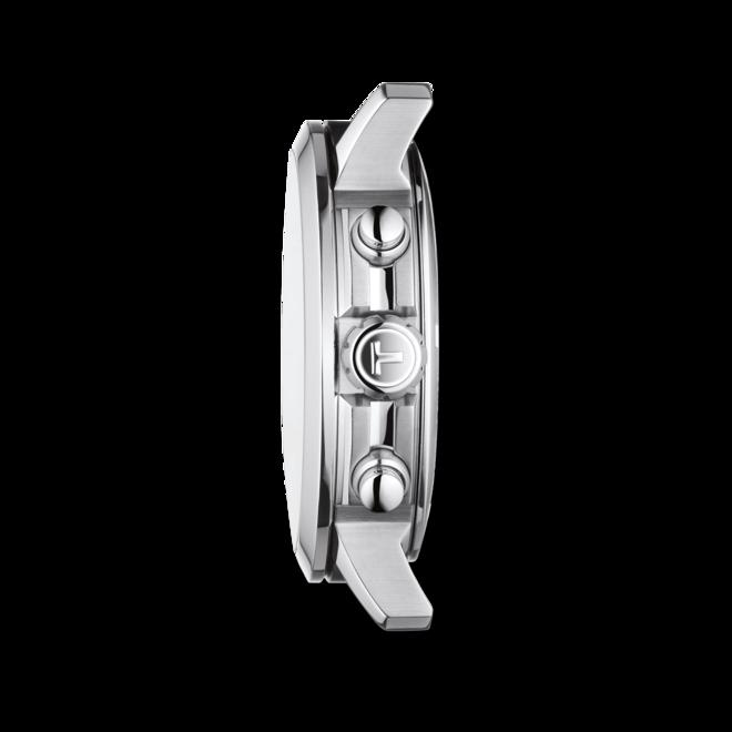 Herrenuhr Tissot PRC 200 Quartz Chronograph Gent mit schwarzem Zifferblatt und Kautschukarmband bei Brogle