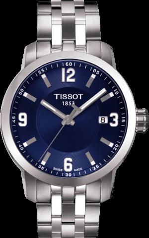 Herrenuhr Tissot PRC 200 Quartz Gent mit blauem Zifferblatt und Edelstahlarmband