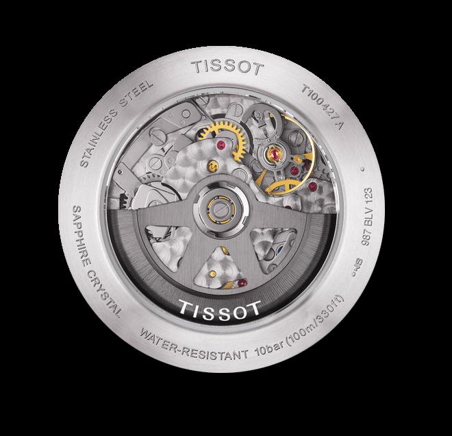 Herrenuhr Tissot PRS 516 Automatic Chronograph mit schwarzem Zifferblatt und Kalbsleder-Armband