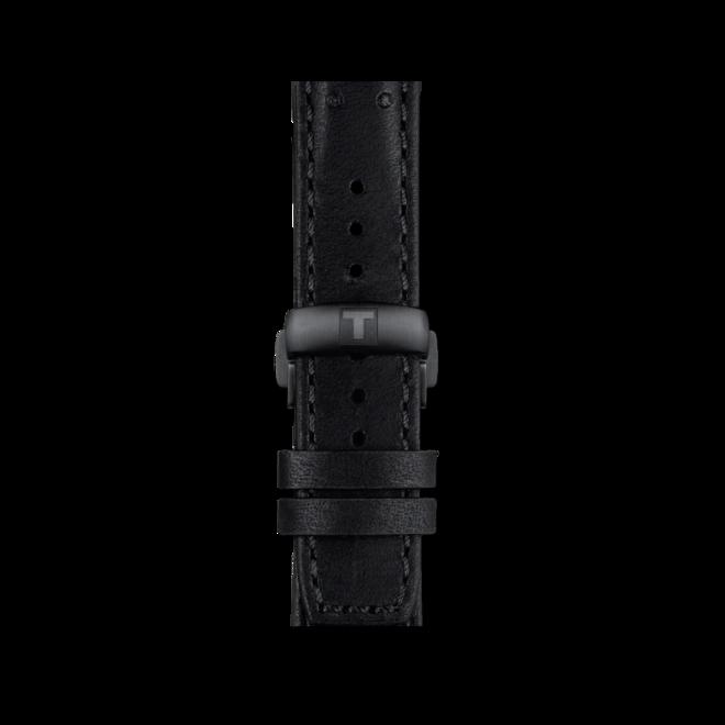 Herrenuhr Tissot PRS 516 Powermatic 80 mit schwarzem Zifferblatt und Rindsleder-Armband bei Brogle