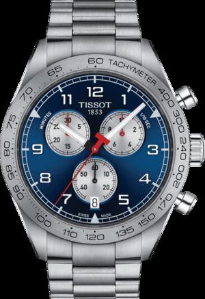 Herrenuhr Tissot PRS 516 Quartz Chronograph mit blauem Zifferblatt und Edelstahlarmband