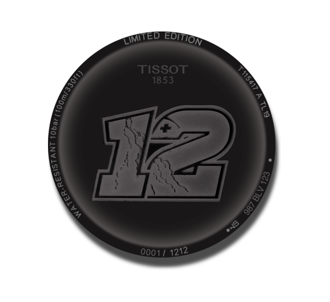 Herrenuhr Tissot T-Sport Quarz 43mm mit schwarzem Zifferblatt und Kautschukarmband bei Brogle