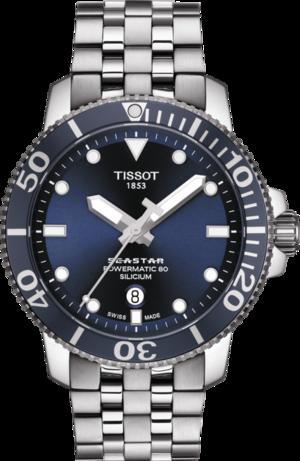 Herrenuhr Tissot Seastar 1000 Automatic Silicium mit blauem Zifferblatt und Edelstahlarmband