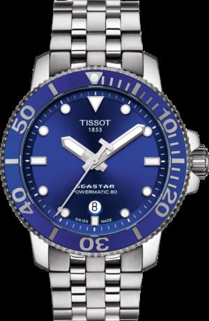 Herrenuhr Tissot Seastar 1000 Automatic mit blauem Zifferblatt und Edelstahlarmband