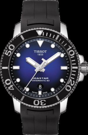 Herrenuhr Tissot Seastar 1000 Automatic mit blauem Zifferblatt und Kautschukarmband