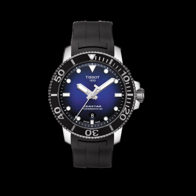 Herrenuhr Tissot Seastar 1000 Automatic mit blauem Zifferblatt und Kautschukarmband bei Brogle