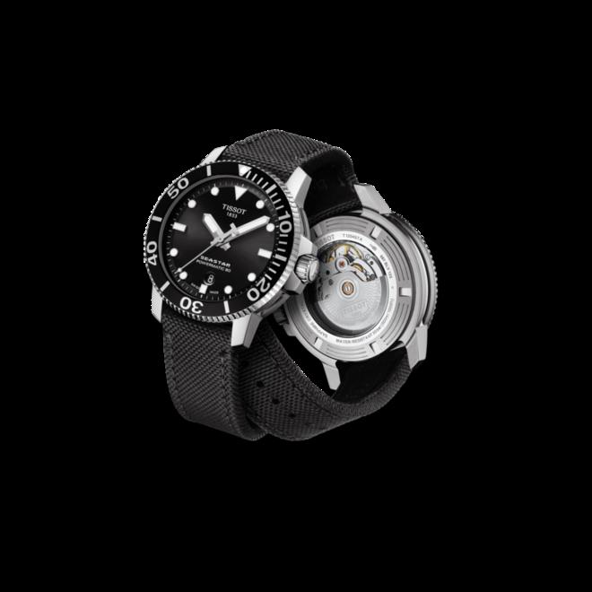 Herrenuhr Tissot Seastar 1000 Automatic mit schwarzem Zifferblatt und Textilarmband bei Brogle