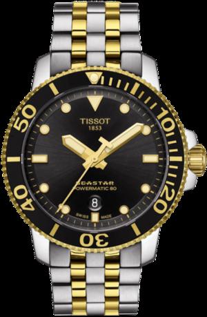 Herrenuhr Tissot Seastar 1000 Automatic mit schwarzem Zifferblatt und Edelstahlarmband