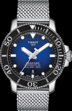 Herrenuhr Tissot Seastar 1000 Powermatic 80 mit blauem Zifferblatt und Edelstahlarmband