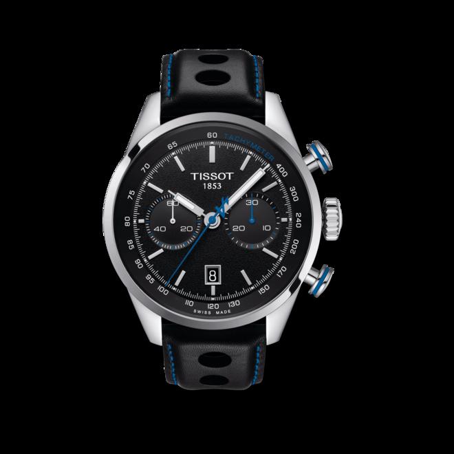 Herrenuhr Tissot V8 Alpine on Board Automatik Chrono mit schwarzem Zifferblatt und Rindsleder-Armband bei Brogle