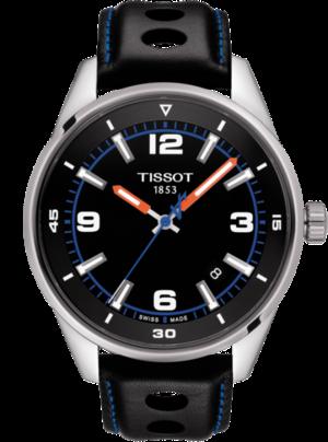Herrenuhr Tissot V8 Alpine On Board mit schwarzem Zifferblatt und Rindsleder-Armband
