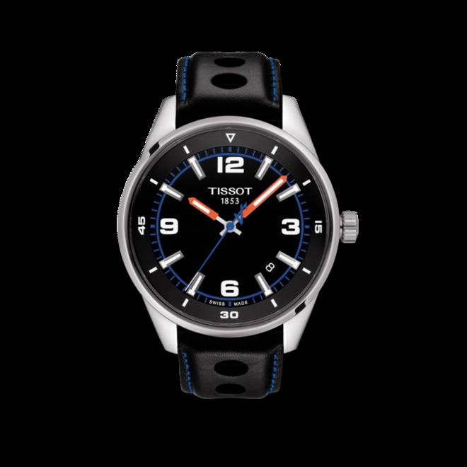 Herrenuhr Tissot V8 Alpine On Board mit schwarzem Zifferblatt und Rindsleder-Armband bei Brogle
