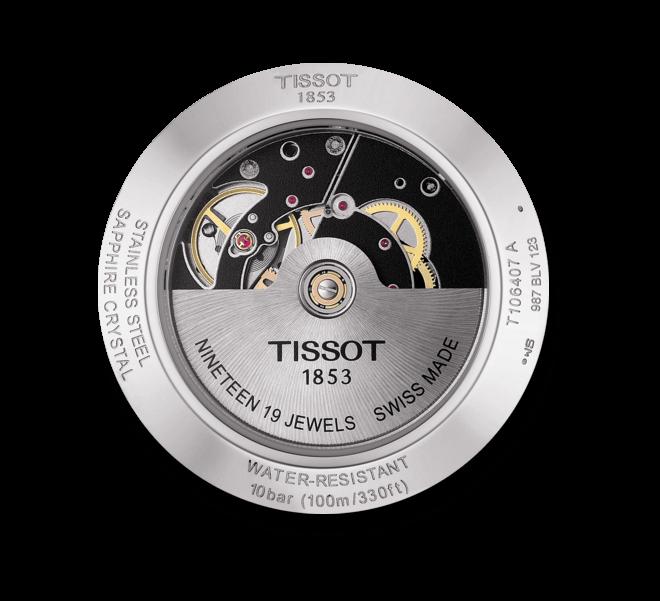 Herrenuhr Tissot V8 Swissmatic mit schwarzem Zifferblatt und Edelstahlarmband bei Brogle