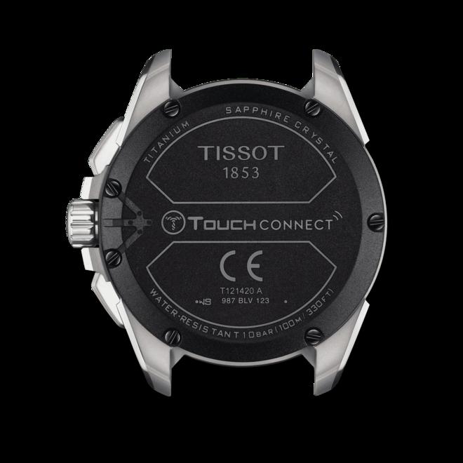 Herrenuhr Tissot Connect Solar mit schwarzem Zifferblatt und Titanarmband bei Brogle