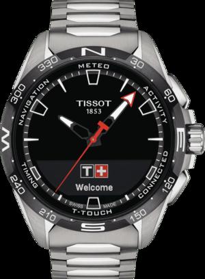 Herrenuhr Tissot Connect Solar mit schwarzem Zifferblatt und Titanarmband