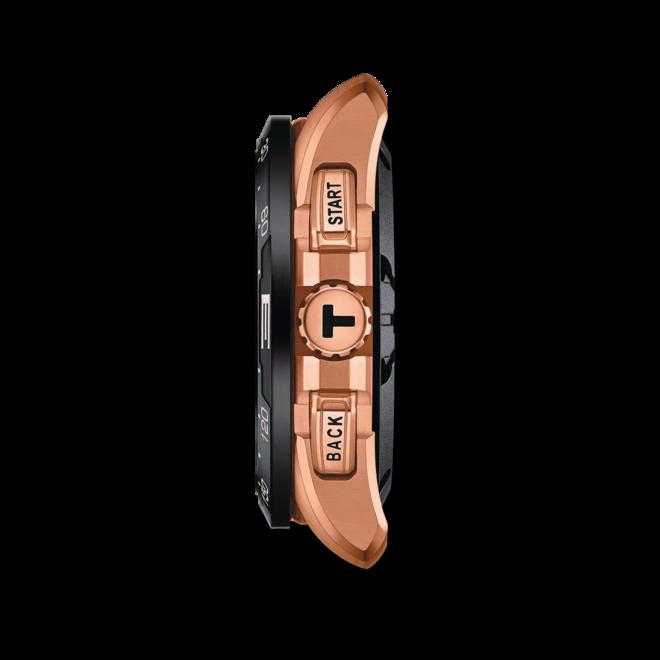 Herrenuhr Tissot Connect Solar mit schwarzem Zifferblatt und Kautschukarmband bei Brogle