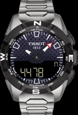 Herrenuhr Tissot Expert Solar II mit schwarzem Zifferblatt und Titanarmband