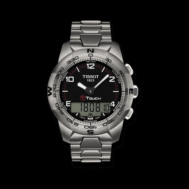 Herrenuhr Tissot T-Touch II Titanium Gent mit schwarzem Zifferblatt und Titanarmband