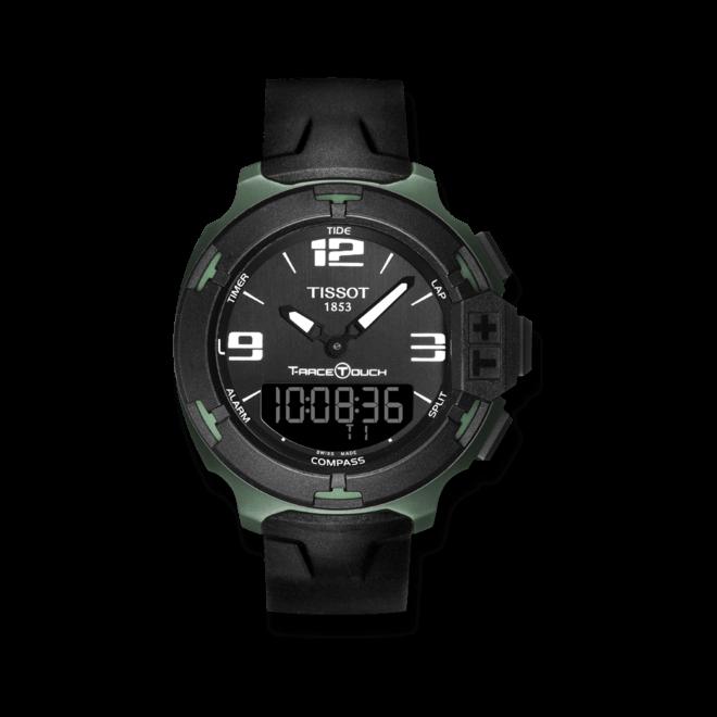 Herrenuhr Tissot T-Race Touch mit schwarzem Zifferblatt und Silikonarmband