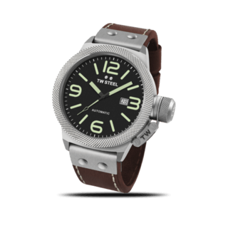 TW Steel Herrenuhr Canteen Leather Automatik 45mm CS25