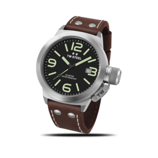 TW Steel Herrenuhr Canteen Leather Quarz 45mm CS21