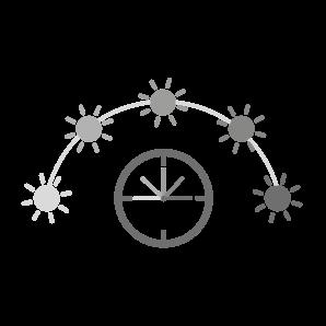 Das Zifferblatt einer Uhr