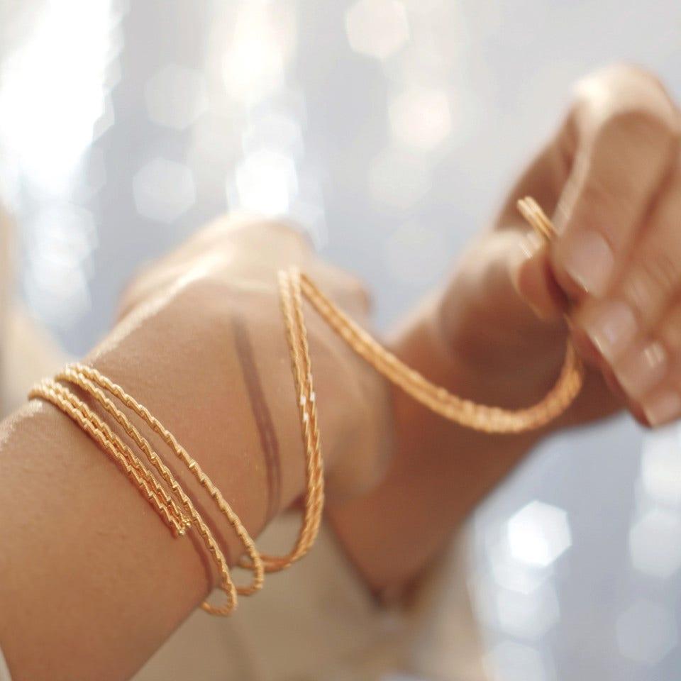 UMARME MICH. Sonnenglanz Armband - Brogle