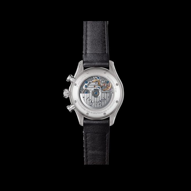 Herrenuhr Union Glashütte Belisar Chronograph mit schwarzem Zifferblatt und Kalbsleder-Armband bei Brogle