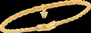 Armband Wellendorff Silky aus 750 Gelbgold mit 1 Brillant (0,017 Karat)