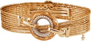 Armband mit Anhänger Wellendorff Beschütze mich aus 750 Gelbgold und Wellendorff-Kaltemaille mit mehreren Brillanten (0,62 Karat)