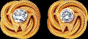Ohrstecker Wellendorff Brillantknoten aus 750 Gelbgold mit 2 Brillanten (2 x 0,29 Karat)