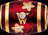 Ronde Wellendorff Kirsche aus 750 Gelbgold und Wellendorff-Kaltemaille mit mehreren Brillanten (0,06 Karat)