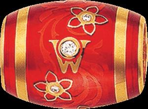 Ronde Wellendorff Orange aus 750 Gelbgold und Emaille mit mehreren Brillanten (0,06 Karat)
